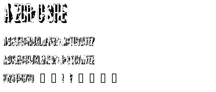 Azcrushe font