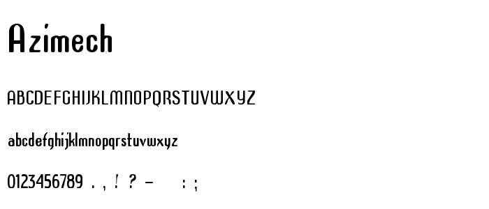 Azimech font