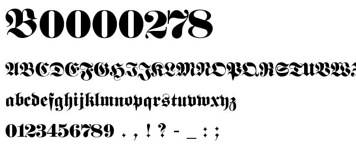 B0000278 font