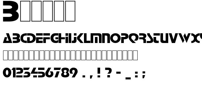 Babind font