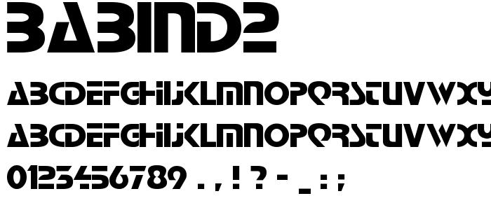 BABIND2.TTF font