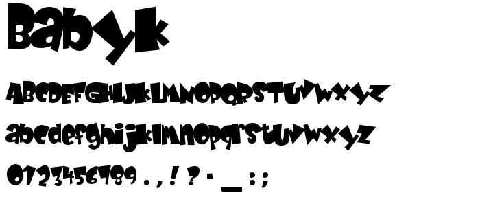 Babyk font