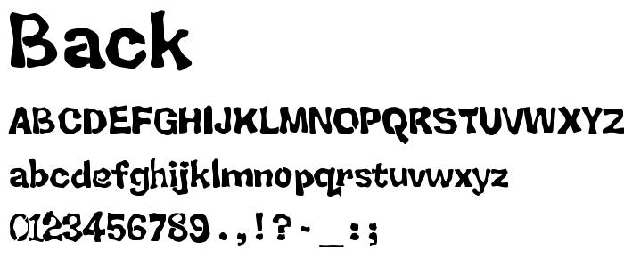 Back font