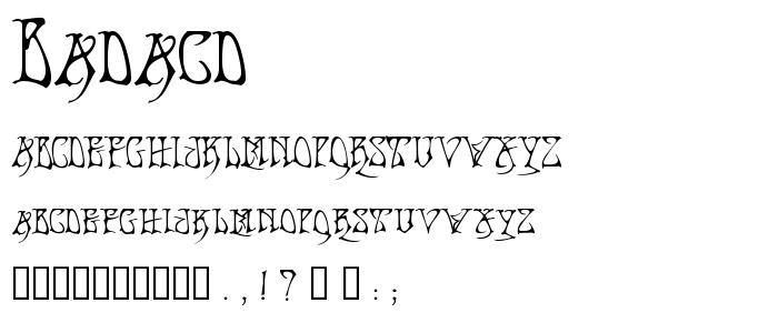Badacd font