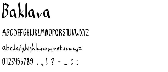 Baklava font