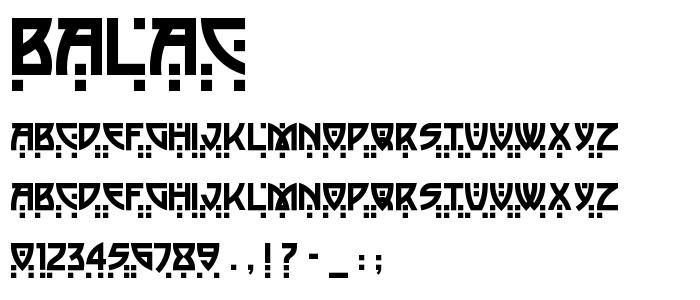 Balac font