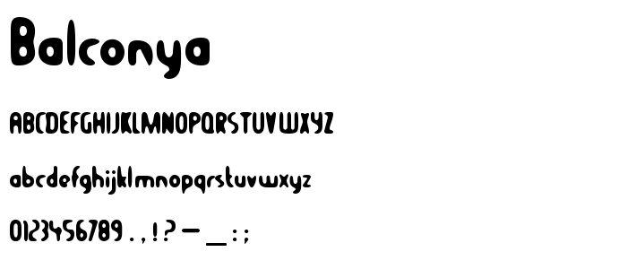 Balconya font