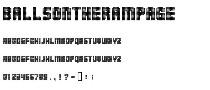 Ballsontherampage font