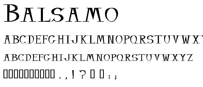 Balsamo font