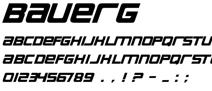 Bauerg font