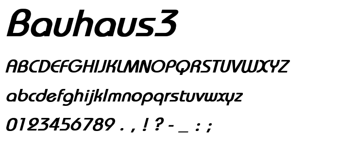 Bauhaus3 font
