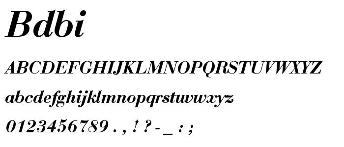 Bdbi font