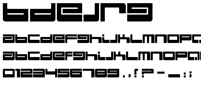 Bdejrg font