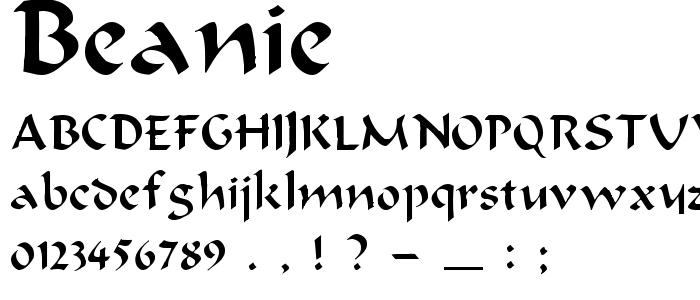 Beanie font