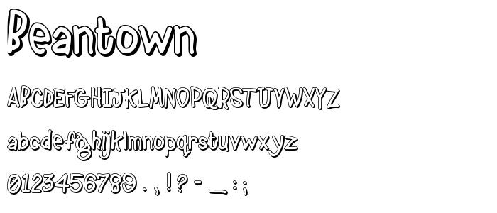 Beantown font