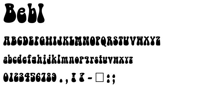 Bebl font