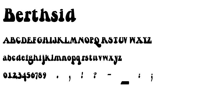 Berthsid font