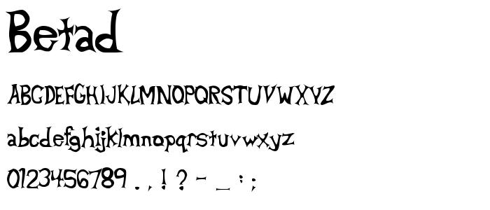 Betad font