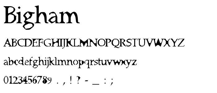 Bigham font