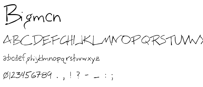 Bigmcn font