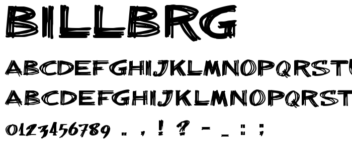 Billbrg font