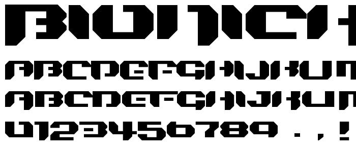 Bionickidsimple font
