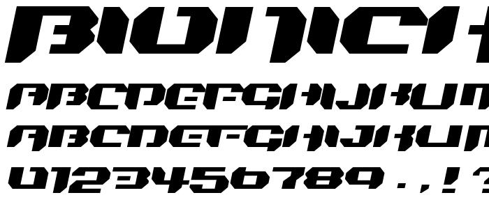 Bionickidsimpleslanted font