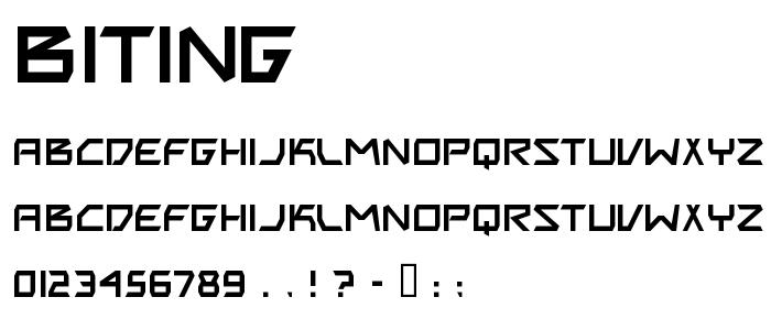 Biting font