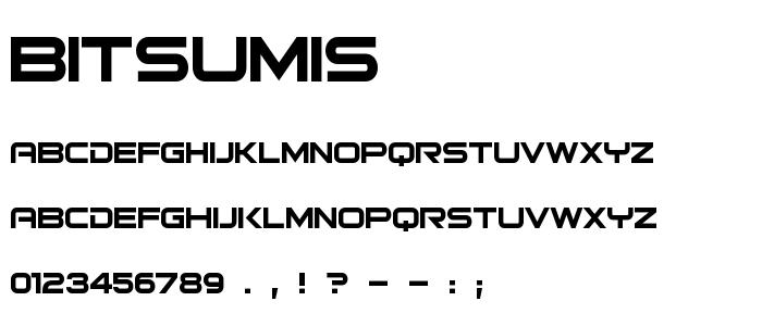 Bitsumis font
