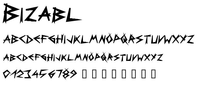 Bizabl font