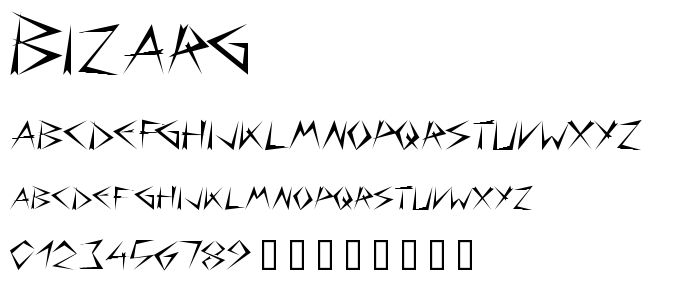 Bizarg font