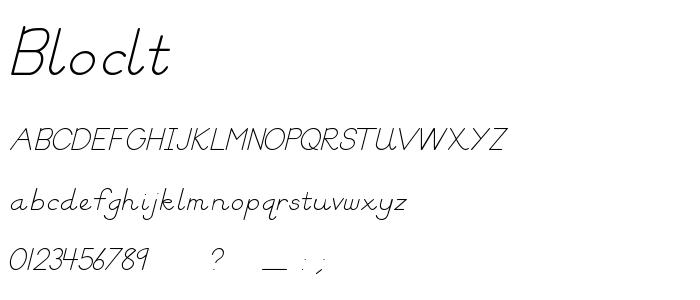 Bloclt font