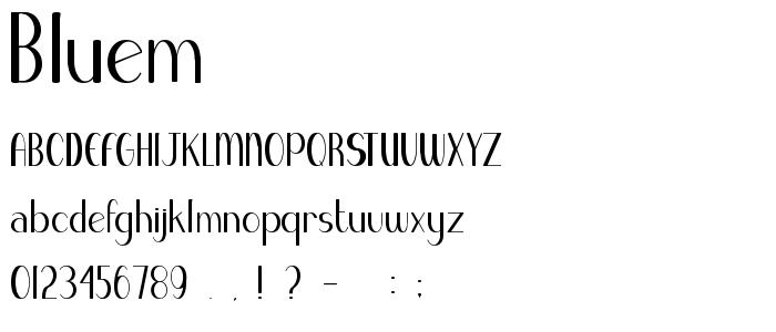 Bluem font