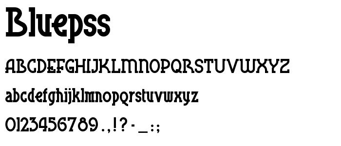 Bluepss font