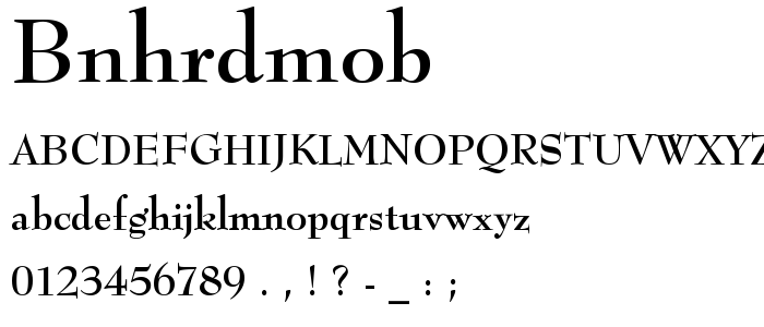 Bnhrdmob font