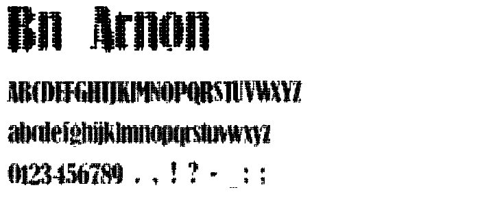 Bn Arnon font
