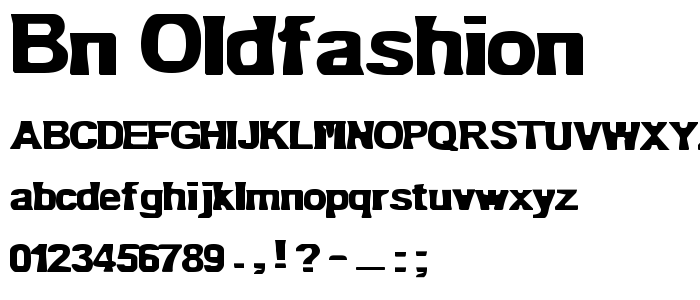 Bn Oldfashion font