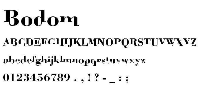 Bodom font