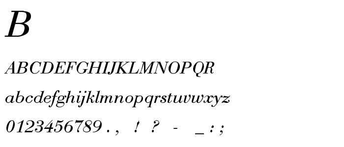 Bodoni 1 font