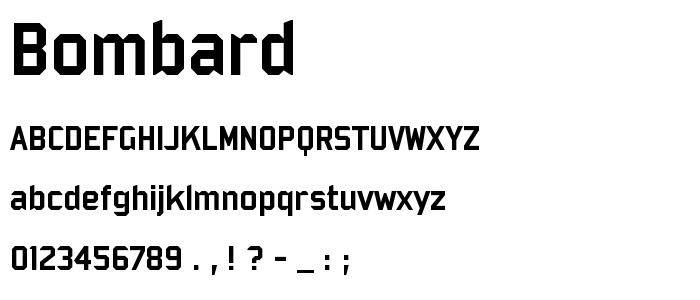Bombard font