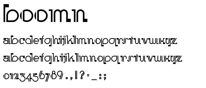 Boomn font