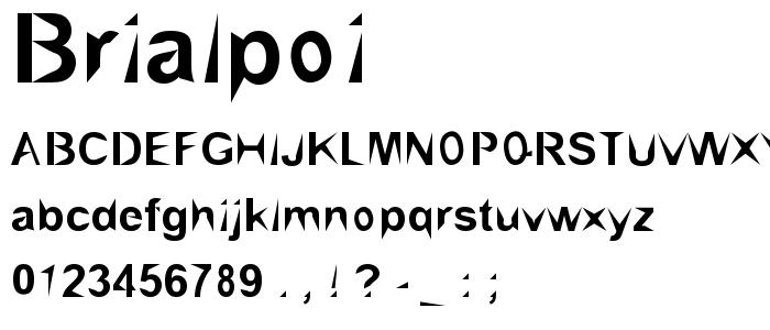 Brialpoi font