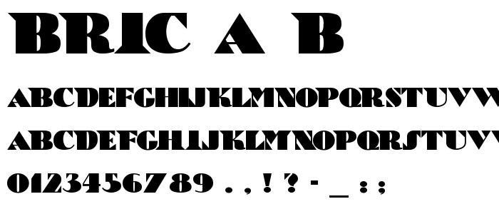 Bric A B font