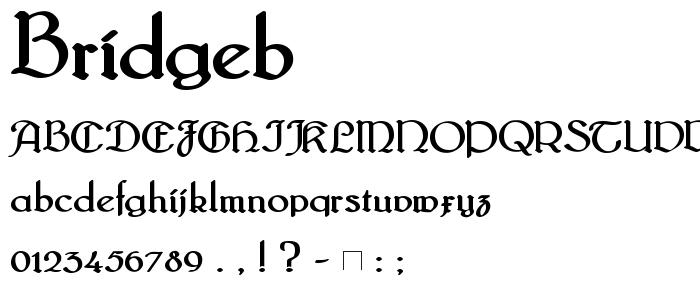 Bridgeb font