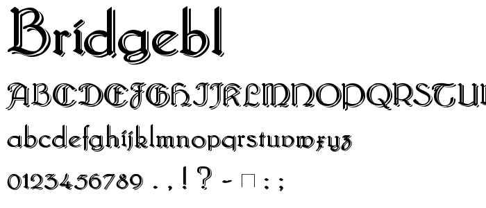 Bridgebl font