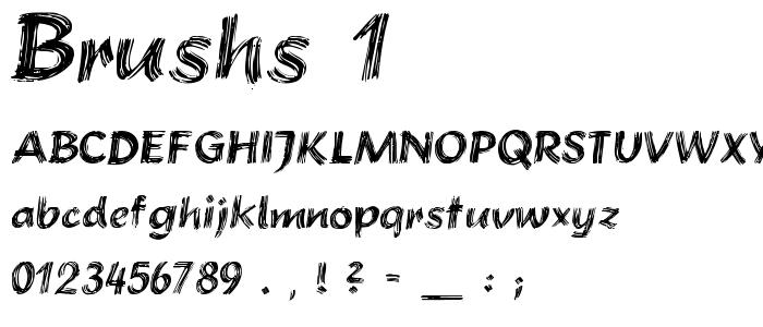 Brushs 1 font
