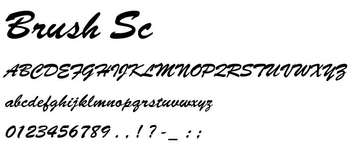 Brush Sc font