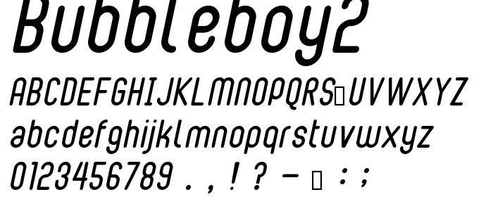 Bubbleboy2 font