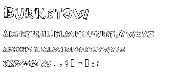 Burnstow font