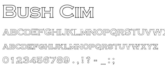 Bush Cim font